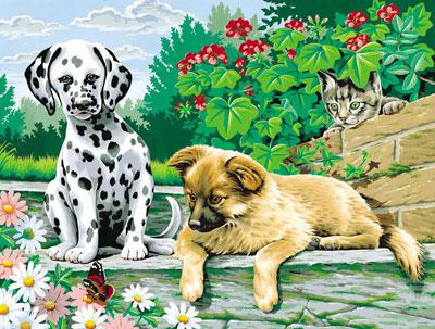 Tierkinder im Garten