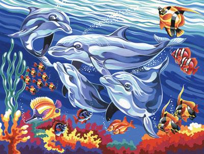 Malen nach Zahlen Bild Delfine - 109036 von Mammut