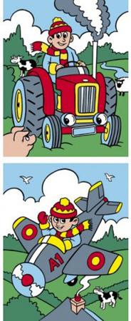 Malen nach Zahlen Bild Flugzeug und Traktor - a30ppnf06 von Mammut