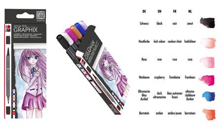 Malen-nach-Zahlen-Zubehör Aquarellfilzstift-Set