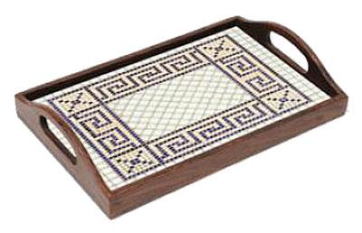 holz tablett mit mosaik muster von sonstiger hersteller oc34000 kaufen bei kreativ. Black Bedroom Furniture Sets. Home Design Ideas