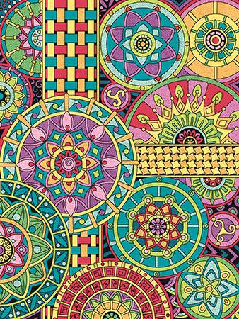 Malen nach Zahlen Bild Mandala-Kollage - 73-91539 von Paintworks