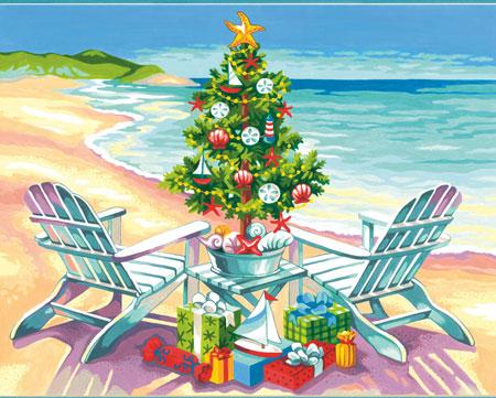 Malen nach Zahlen Bild Strand-Weihnacht - 73-91616 von Sonstiger Hersteller