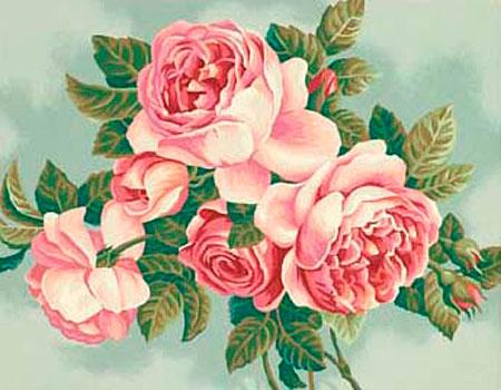 Malen nach Zahlen Bild Rosa Rosen - 91299 von Sonstiger Hersteller
