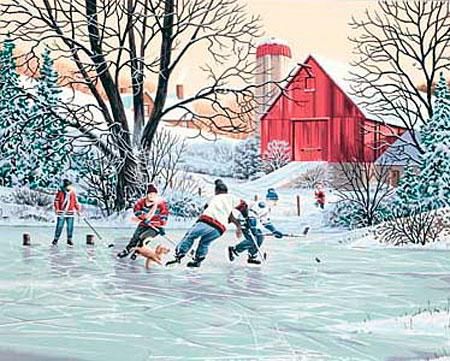 Eishockey auf dem See