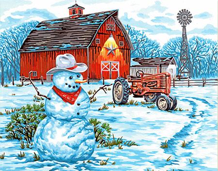 Malen nach Zahlen Bild Winter auf dem Bauernhof - 91434 von Sonstiger Hersteller