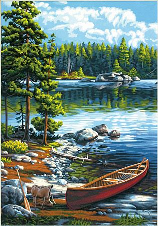 Malen nach Zahlen Bild Flussufer - 91446 von Paintworks
