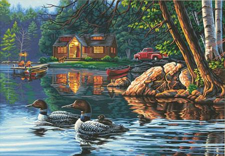 Malen nach Zahlen Bild Enten-Bucht - 91474 von Paintworks