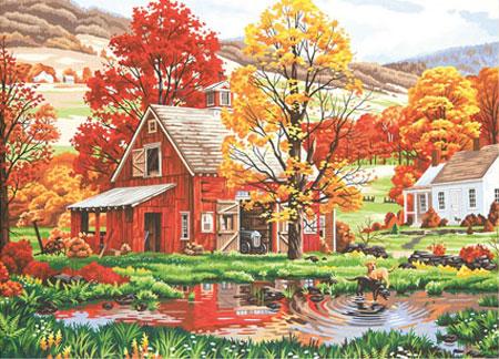 Malen nach Zahlen Bild Herbstfreunde - 91475  von Sonstiger Hersteller