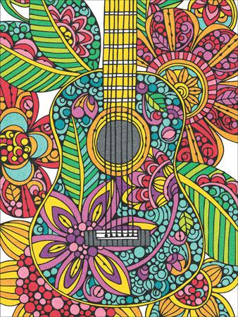Malen nach Zahlen Bild Blüten-Gitarre - 91537 von Sonstiger Hersteller