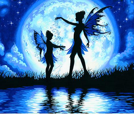 Malen nach Zahlen Bild Elfen im Mondlicht - 91671 von Sonstiger Hersteller