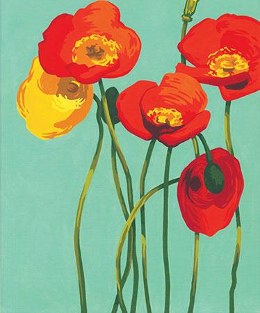 Malen nach Zahlen Bild Mohnblüten - 91678 von Sonstige