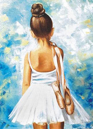 Malen nach Zahlen Bild Diamond Painting - Kleine Ballerina - LE013e von Protsvetnoy