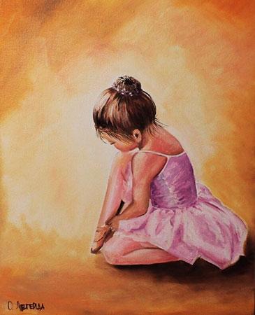 Malen nach Zahlen Bild Diamond Painting - Kleine Ballerina - LE038e von Protsvetnoy