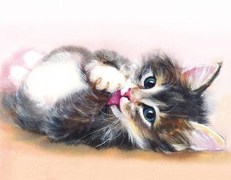 Malen nach Zahlen Bild Diamond Painting - Süßes Kätzchen - LG011e von Sonstiger Hersteller