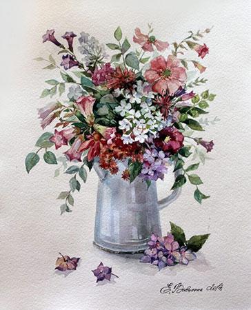Malen nach Zahlen Bild Diamond Painting - Blumen-Rhapsodie - LG023e von Protsvetnoy