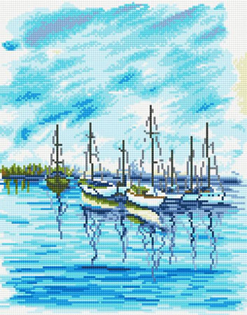 Diamond Painting - Seelandschaft