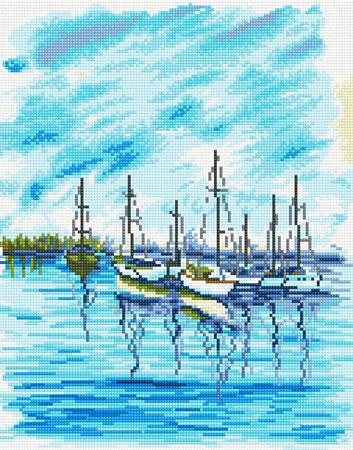Malen nach Zahlen Bild Diamond Painting - Seelandschaft - LG045e von Sonstiger Hersteller