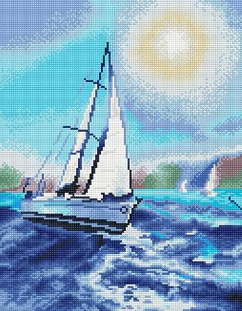 Malen nach Zahlen Bild Diamond Painting - Unter dem weißen Segel - LG081e von Sonstiger Hersteller