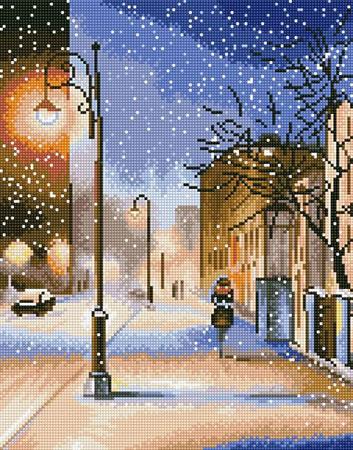 Malen nach Zahlen Bild Diamond Painting - Abendlicher Schneesturm - LG083e von Protsvetnoy