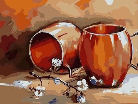 Stillleben mit Tassen