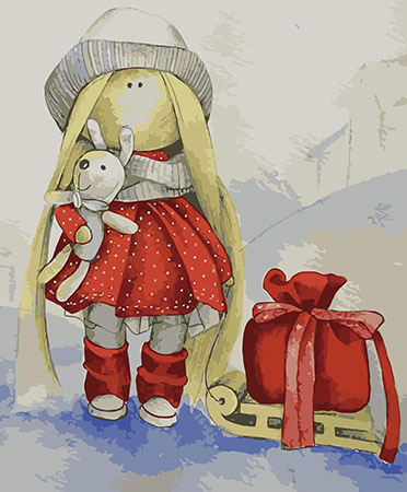 Malen nach Zahlen Bild Puppe Elsa - ME1103e von Protsvetnoy