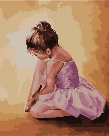 Malen nach Zahlen Bild Kleine Ballerina - MG2055e von Sonstiger Hersteller