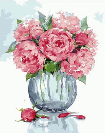 Pfingstrosen mit Vase