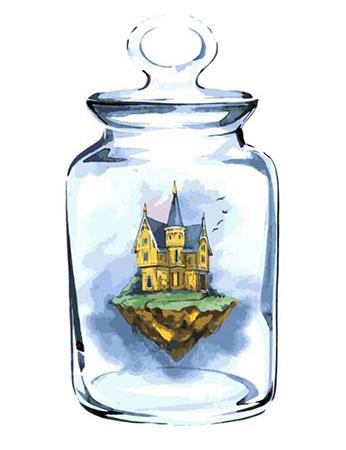 Stadt im Glas