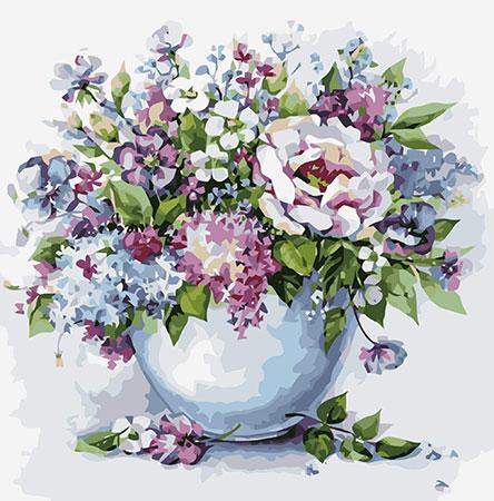 Malen nach Zahlen Bild Zarte Blumen in Vase - MG2102e von Protsvetnoy