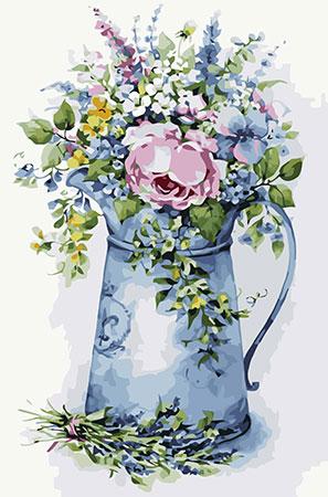 Malen nach Zahlen Bild Romantisches Bouquet - MG2104e von Protsvetnoy
