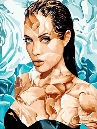 Malen nach Zahlen Bild Porträt von Angelina - MG2107e von Protsvetnoy
