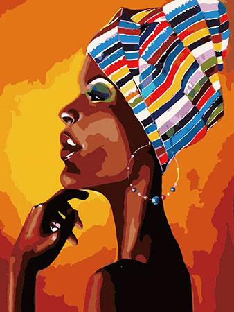 Malen nach Zahlen Bild Portrait einer Afrikanerin - mg2112e von Protsvetnoy