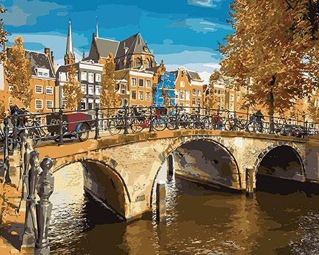 Malen nach Zahlen Bild Kanal in Amsterdam - mg2135e von Protsvetnoy