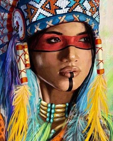 Malen nach Zahlen Bild Native American 2 - mg2145 von Protsvetnoy