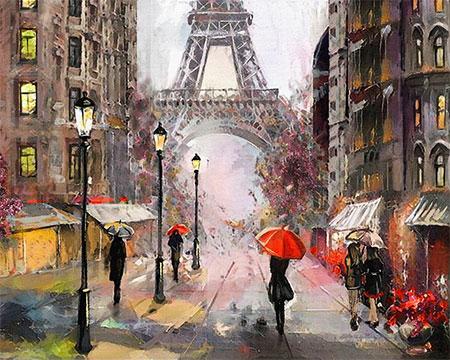 Malen nach Zahlen Bild Paris im Regen - mg2160e von Protsvetnoy