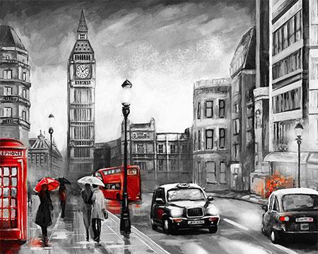 Malen nach Zahlen Bild London im Regen - mg2161e von Protsvetnoy