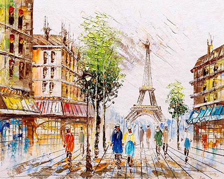Malen nach Zahlen Bild Impression aus Paris - mg2163e von Protsvetnoy