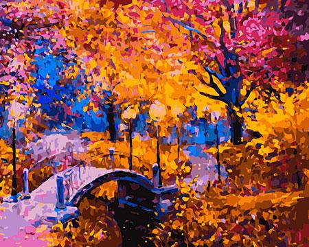 Malen nach Zahlen Bild Herbstfarben - mg2167e von Protsvetnoy