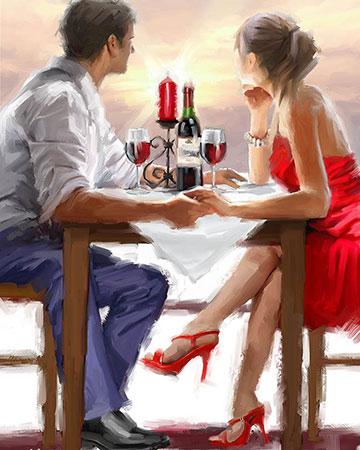 Malen nach Zahlen Bild Romantisches Dinner - mg2202e von Protsvetnoy