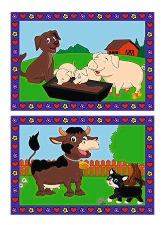 Malen nach Zahlen Bild Liebe Bauernhoftiere - 27779 von Ravensburger