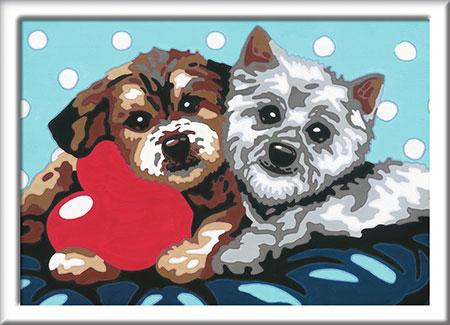 Malen nach Zahlen Bild Hundefreundschaft - 27783 von Ravensburger