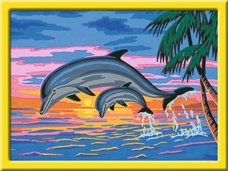 Malen nach Zahlen Bild Paradies der Delfine - 27790 von Ravensburger