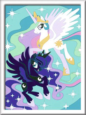 Malen nach Zahlen Bild My Little Pony - Celestia und Luna - 27832 von Ravensburger