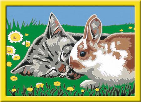 Malen nach Zahlen Bild Kätzchen und Häschen       - 27840 von Ravensburger