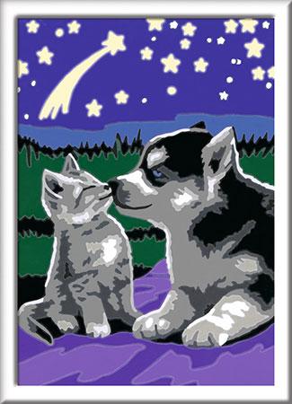 Malen nach Zahlen Bild Hund und Katze - 27847 von Ravensburger