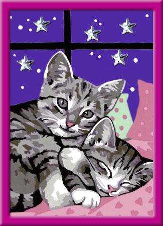 Malen nach Zahlen Bild Schlafende Katzen - 27995 von Ravensburger