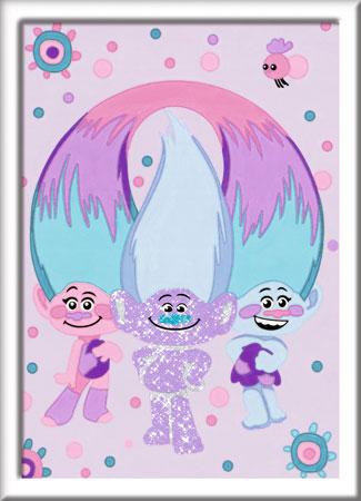 Trolls - Guy Diamond, Satin und Chenille