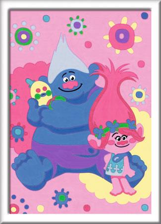 Malen nach Zahlen Bild Trolls - Poppy und Biggie - 28009 von Ravensburger