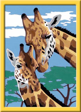 Malen nach Zahlen Bild Süße Giraffen - 28026 von Ravensburger